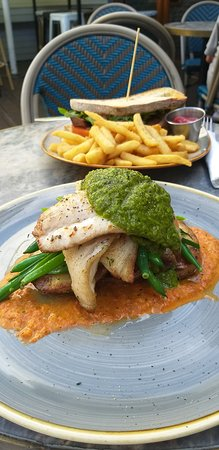 Coopers Hotel: Bream fish special with steak sandwich in background