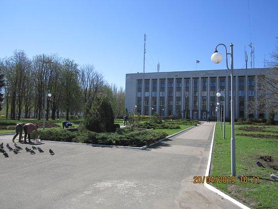 Здание районной администрации Пролетарского района на площади Героев Сталинграда