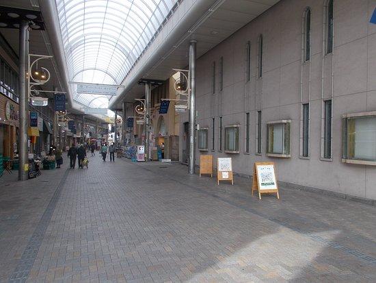 関門跡の遠景(元町商店街6丁目西口からパチリ)