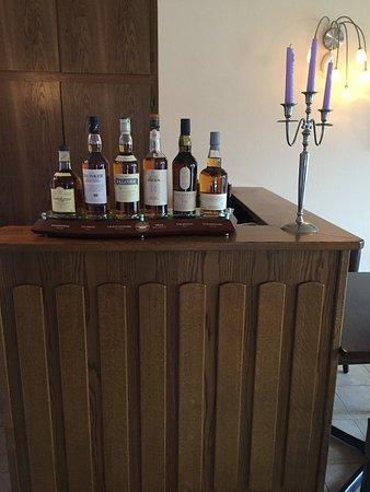 Mooie Collectie Single Malt Whiskey's in Restaurant Landhaus Nordenau