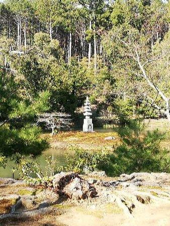 Temple du Pavillon d'or (Kinkaku-ji): สวนกลางน้ำ