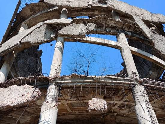 Monument Rotonda: Торжество жизни: внутри растут молодые деревья