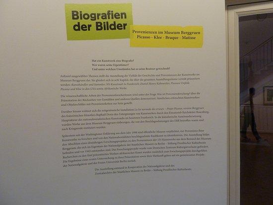 Museum Berggruen: Zur Provenienzforschung