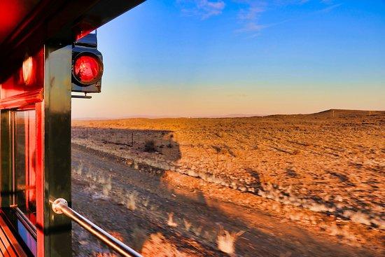 Rovos Rail: Morning sunrise through the Karoo.