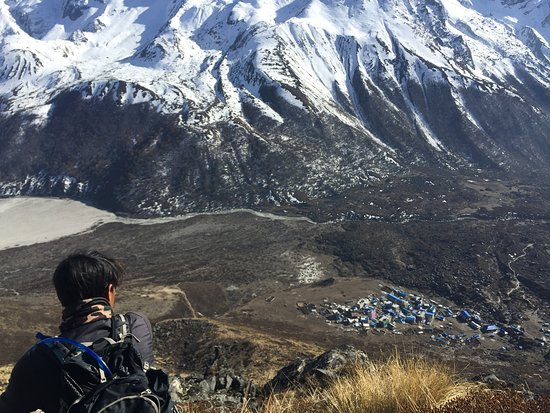 At the end of the Langtang trek