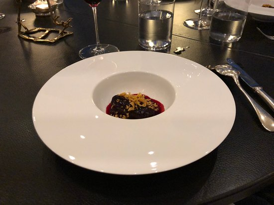 Slow Cooked Beetroot with Chicken Skin