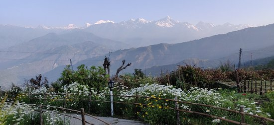 Amazing views with equally amazing garden and staff