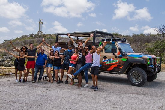 Curacao Activities: Group Picture at Director's Bay stop of our Jeep and Snorkel Adventure Tour
