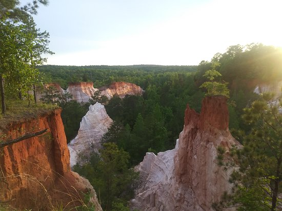 Providence Canyon State Outdoor Recreation Area: From the rim just before sunset 4/23/19
