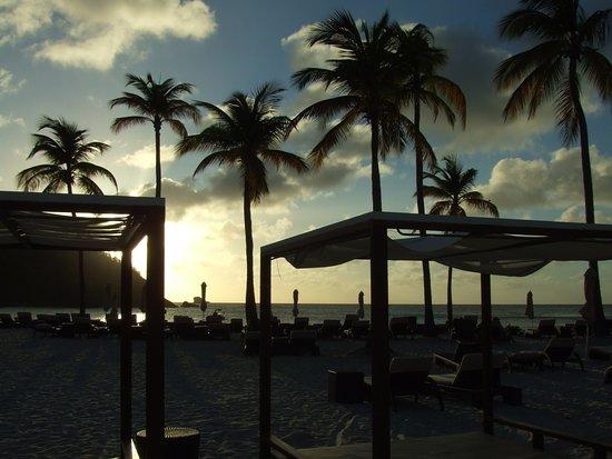 Cap Estate, St. Lucia: Beach at the Royalton.