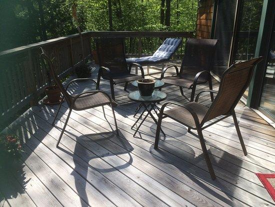 Berkshires, MA: Upstairs deck