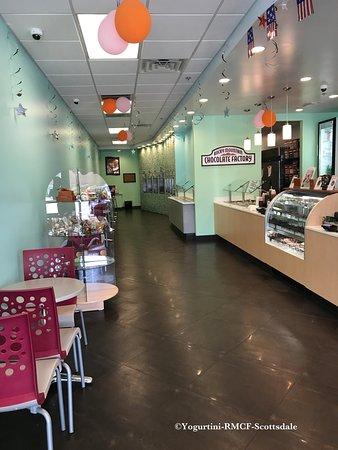 Yogurtini-RMCF-Scottsdale: Store Interior - We sell Rocky Mountain Chocolate too.