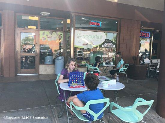 Yogurtini-RMCF-Scottsdale: Store outside- Patio Time