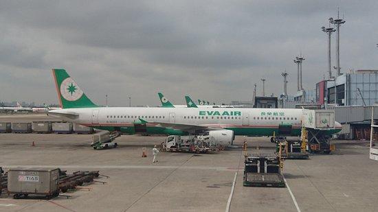 Cathay Pacific: 商務客位窗外景色
