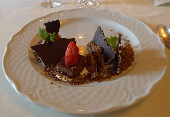 all singing and dancing chocolate dessert