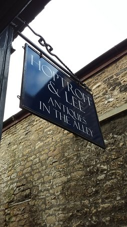 Our shop sign can be seen from the High Street