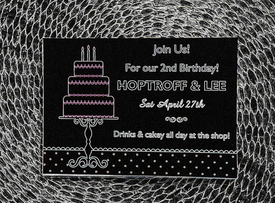 Join us for our second birthday celebrations