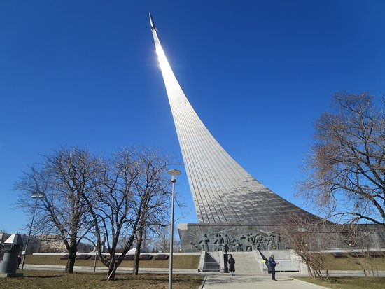 Monument to the Conqueror's of Space. The museum is underneath. This is walkable from the VDNKH area.