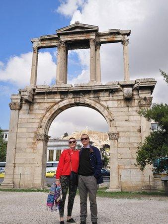 Visión global de Atenas histórica excelente