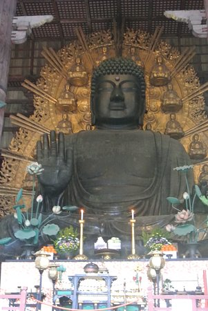 The large bronze Buddha from the entrance to the temple.