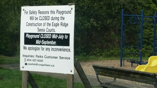 playground closed during construction