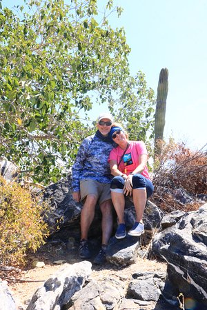 Los Cabos Mountain Bike Adventure and Eco-Farm: Relaxing, looking at the view