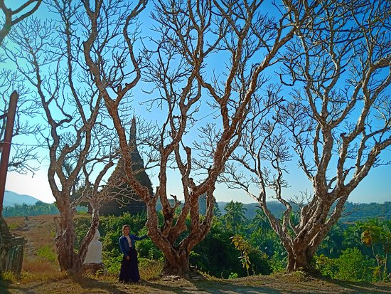 the best view of Mrauk Oo, best destination in Myanmar