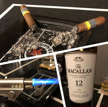 The Olde Cuban: A good cigar is a complement to your drink.