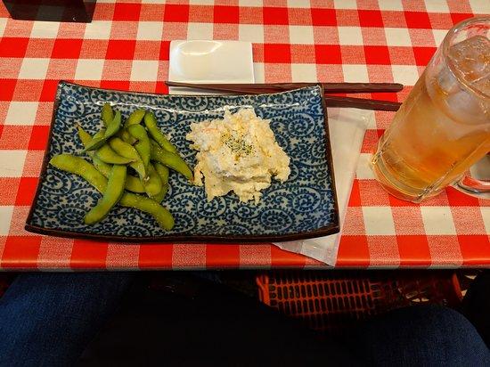 Walking Food Tour in Yurakucho, Shimbashi and Ginza: Vegetarian meal - edamame and potato salad