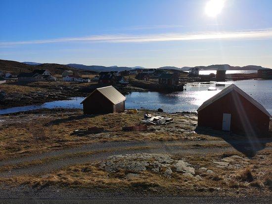 Sør-Trøndelag, Norge: Utsikt over deler av Seter Havn fra Kaffekroken.