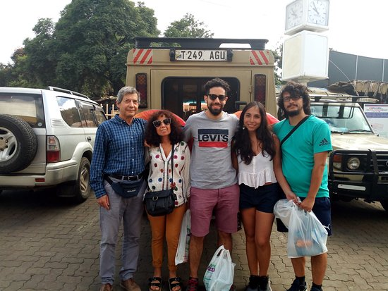Javier 5pax on arrivals at Kilimanjaro airport