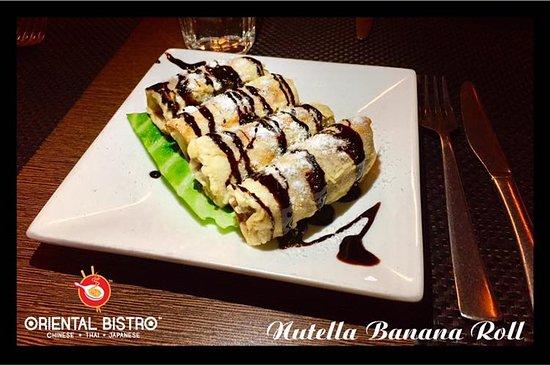 Nutella Banana Roll
