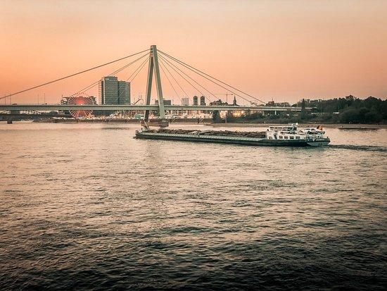 Letztes Wochenende in meinem geliebten Köln am Rheinauhafen mit Marina und den berühmten Kranhäusern! Was für eine wunderschöne Abendstimmung! ❤️