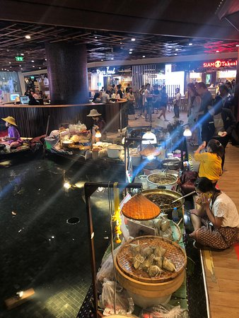 Food street inside the mall