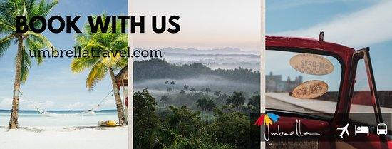 Tus traslados, renta de autos, excursiones y alojamiento en Cuba con Umbrella Travel.
