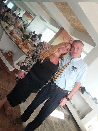 Con Fabio italiano gerente restaurante
