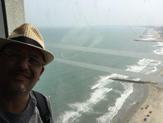 Vista do corredor do 24º andar onde ficava o quarto