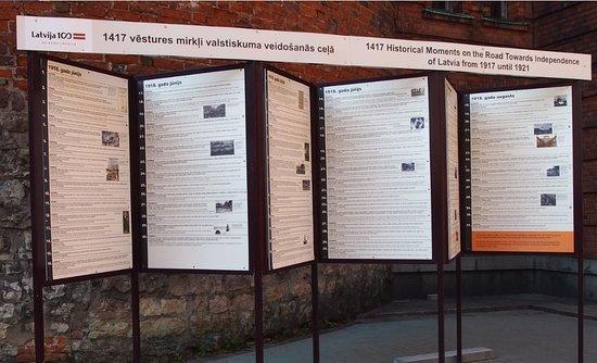 Riga, Letonia: 説明案内板