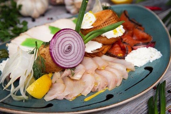 Fish gastronomy platter