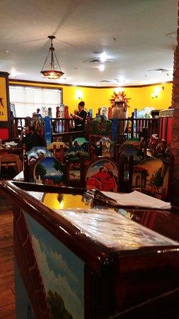 inside La Tolteca Mexican restaurant