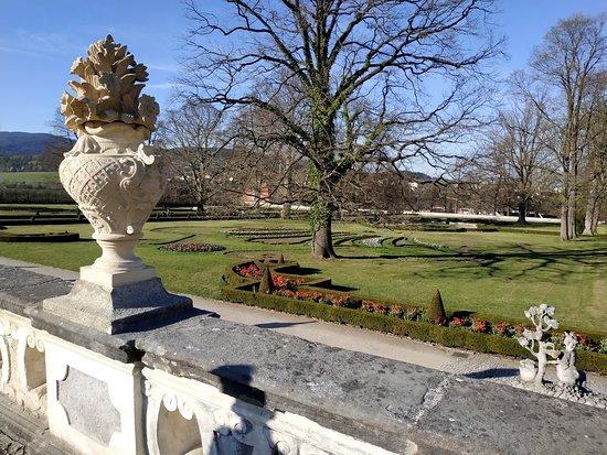 Zámecká zahrada - Český Krumlov