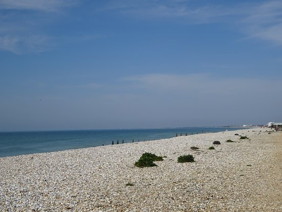 East Wittering, UK: View towards Portsmouth