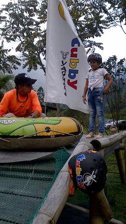 Parque Ecoturistico y Extremo Yaguare: preparando para el tubby