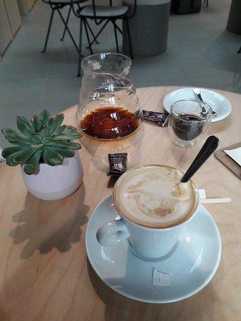 cappuccino et café brésilien