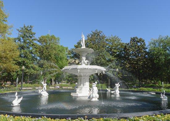 حديقة فورسيث: The fountain