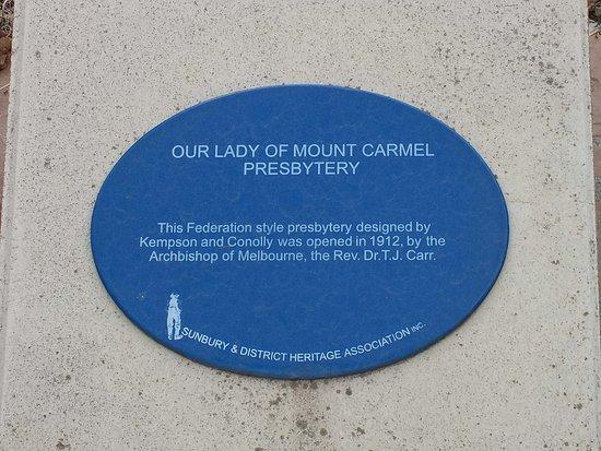 Historic plaque presbytery