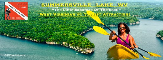 Sarge's Dive Shop rents kayaks & paddleboards on Summersville Lake, WV.