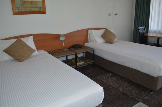 كارينجا موتل: Guest Room with Two Twin Beds