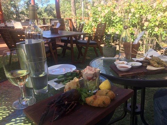 Smallwater Estate Cellar Door & Restaurant: The marron platter andReserve White - great combination!