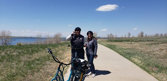 Jose and Audrey visiting from Tampa, Florida enjoyed a ride around the Aurora Reservoir.